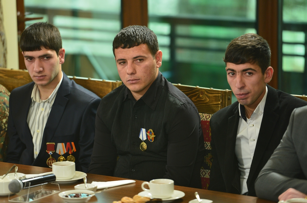 Young veterans of the April War after demobilization, Jan. 2017. Image courtesy of www.president.am
