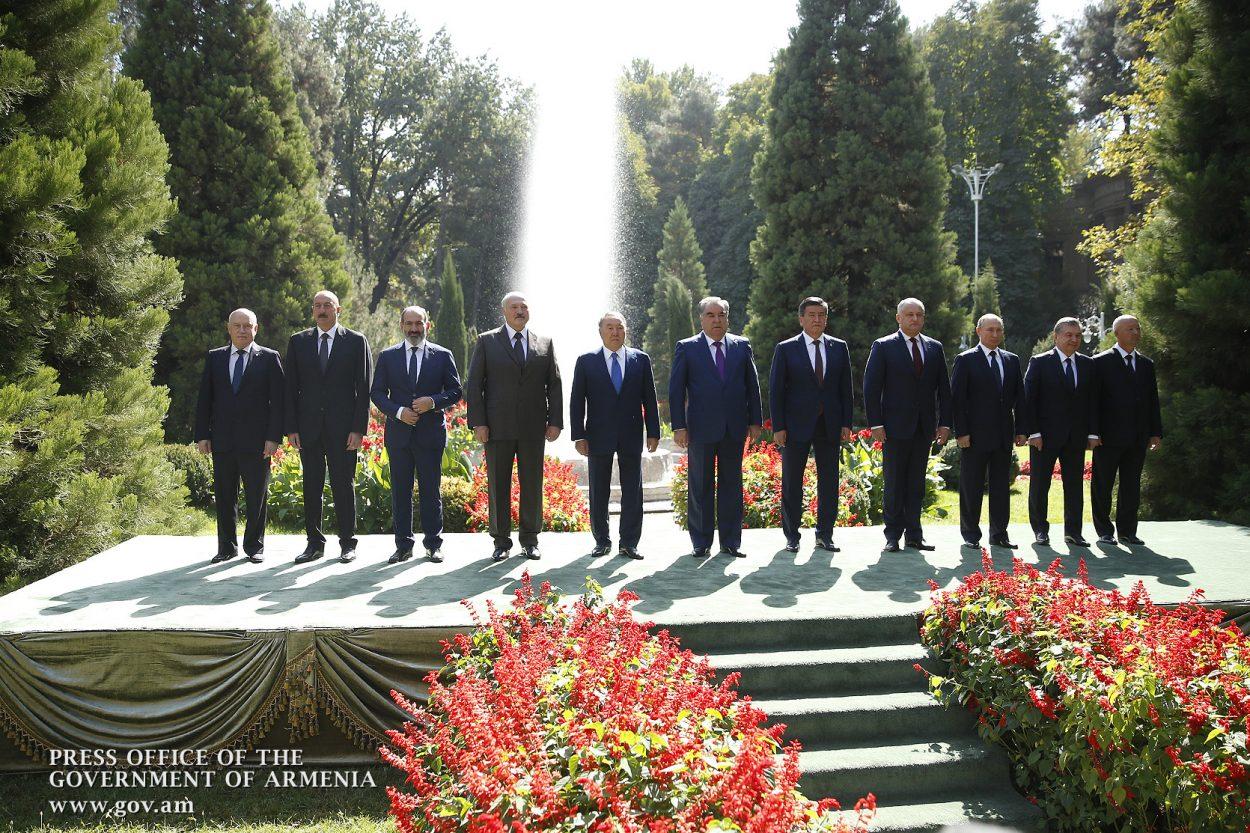 CIS family photo in Tajikistan. Prime Minister's Office.