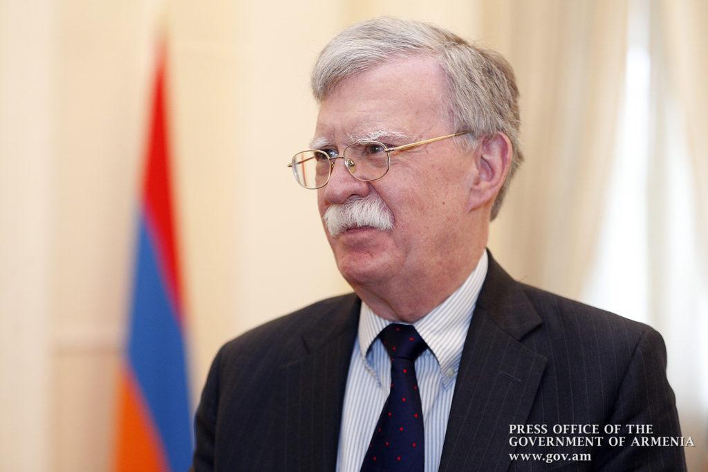 John Bolton in Armenia.