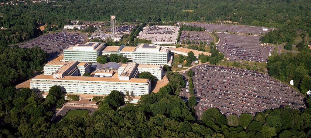 Aerial view of CIA headquarters in Langley, Virginia. Image courtesy of the Library of Congress.