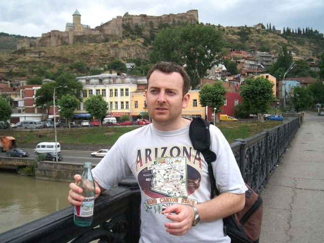 Aleksandr Lapshin in Tbilisi. Via Wikimedia.