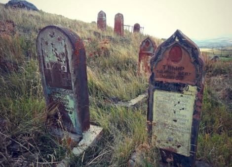 Muslim cemetery in the village of Balikli (presently Zorakert) in northwestern Armenian. Via TripAdvisor.com