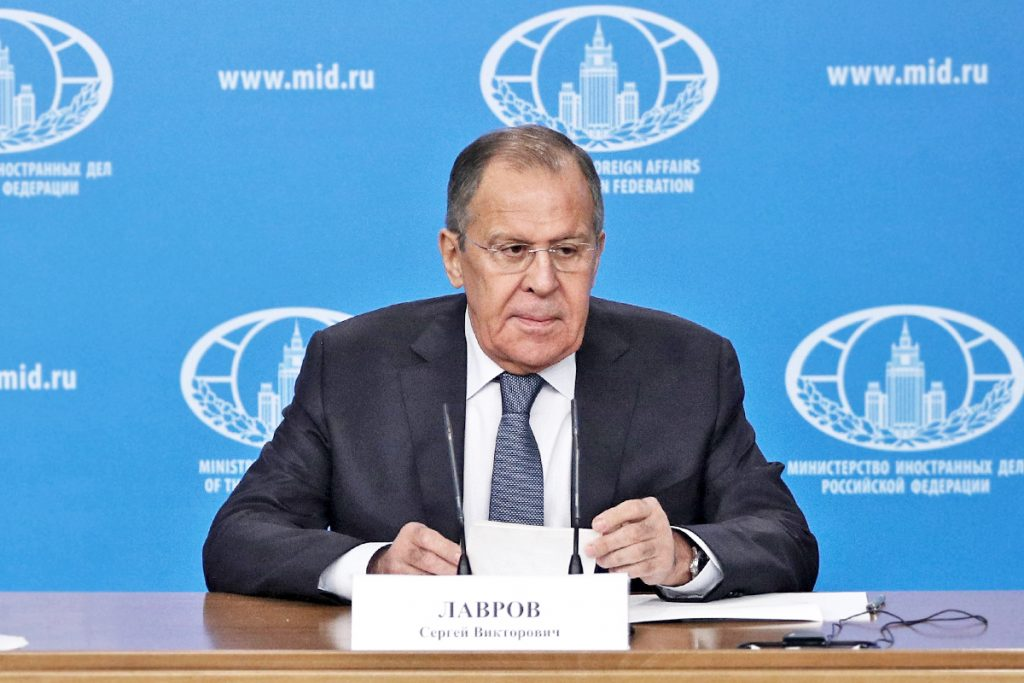 Russian foreign minister Sergei Lavrov on Jan. 15, 2018