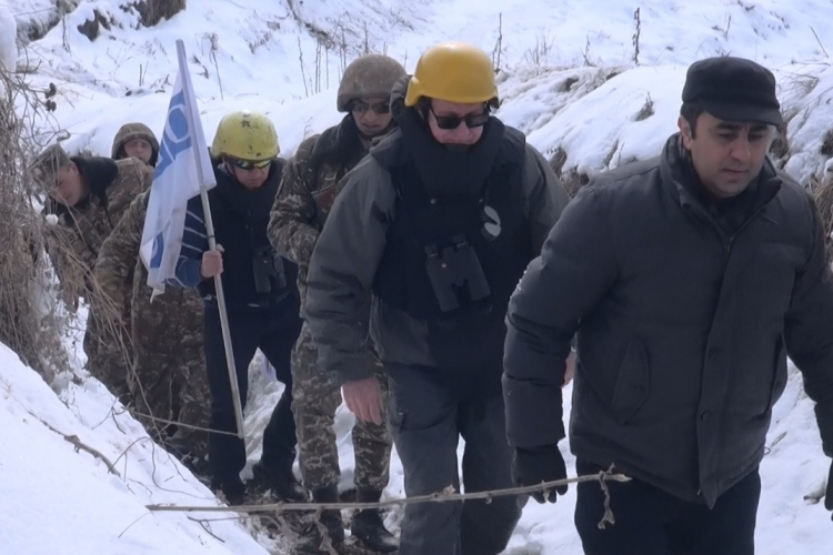 Monitors on the Armenian-Azerbaijani Line of Contact in February 2017. Image courtesy of the OSCE.