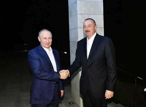 Putin and Aliyev meeting in Sochi, Russia on July 21. Courtesy image
