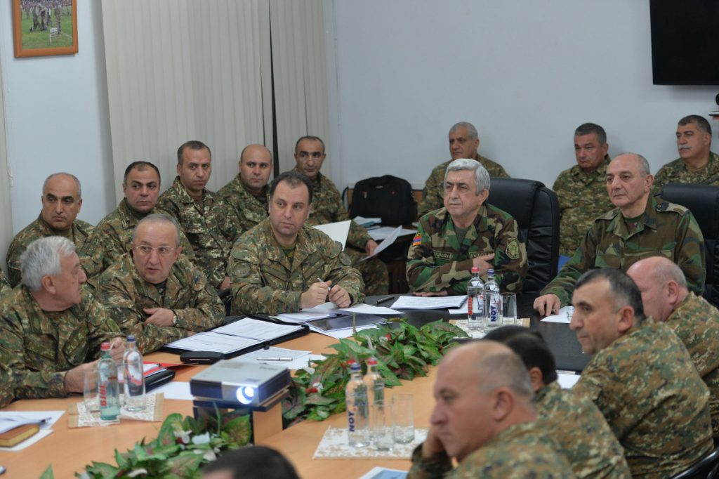 Armenian political and military leadership in Stepanakert on Dec. 1, 2017. Official photo