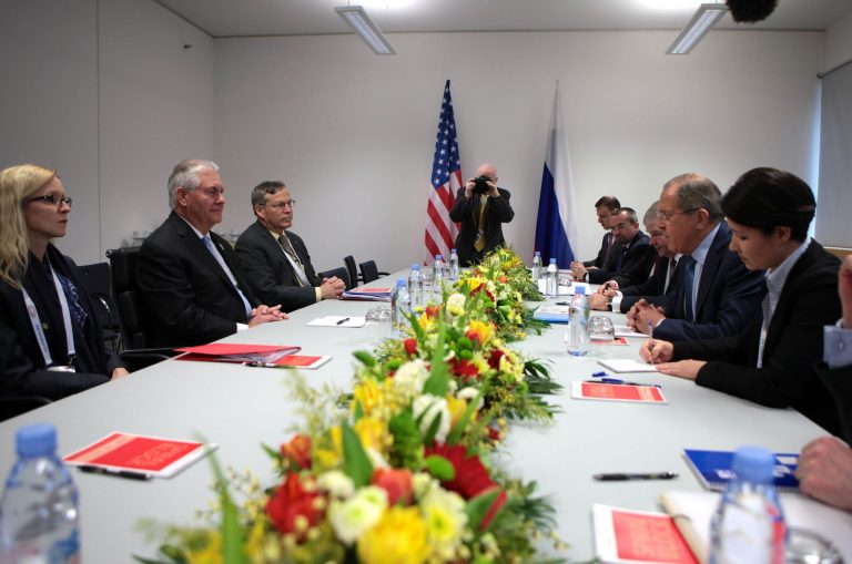 U.S. and Russian delegations met during the G20 summit in Bonn, Feb. 16, 2017