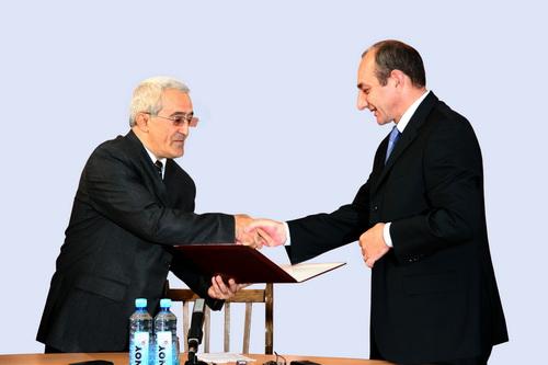 Bako Sahakyan was first certified Karabakh's president in Sept. 2007. Image courtesy of President.NKR.am