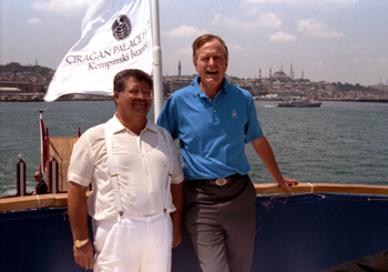 Bush and Ozal in Istanbul in July 1992. Photo Credit: George Bush Presidential Library