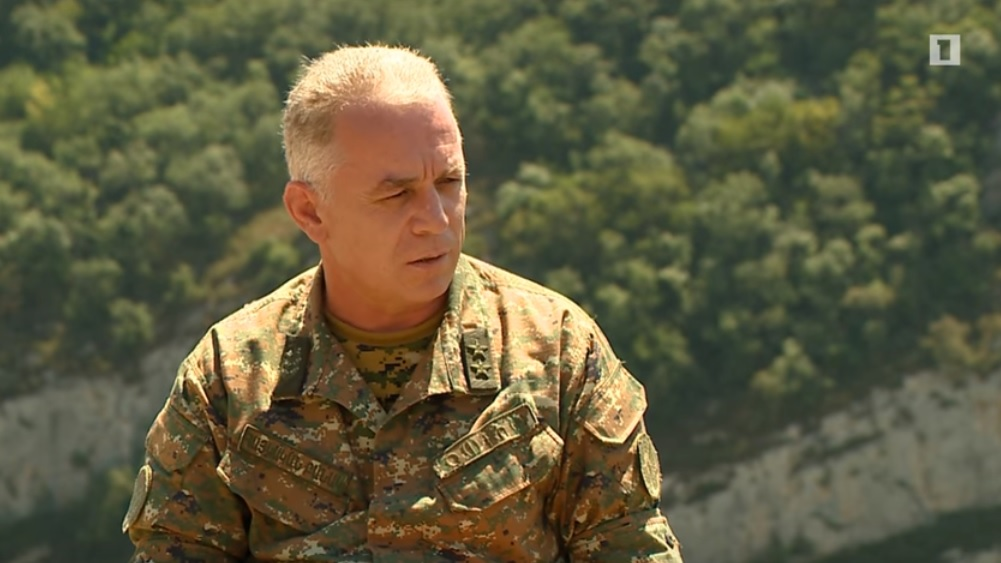 Gen. Mnatsakanyan. Armenian H1 TV image grab