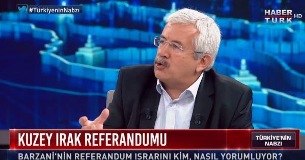 Ufuk Uras speaking about his visit to Karabakh. Image grab from Habertürk TV program.