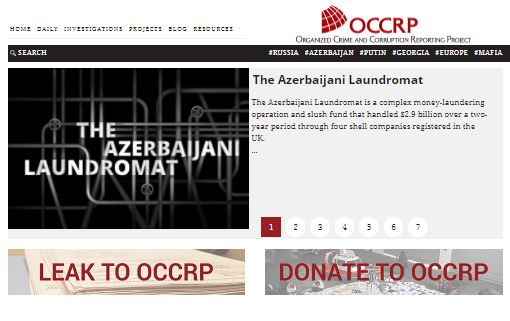 Web site of the Organized Crime and Corruption Reporting Project.