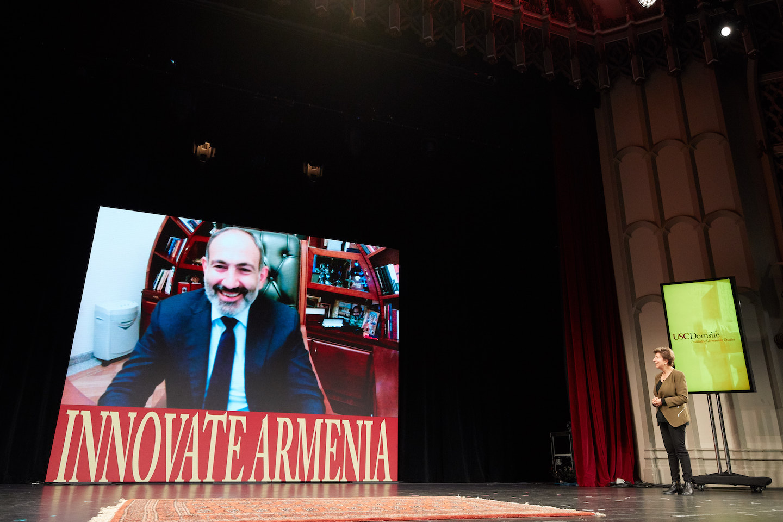 Prime Minister Nikol Pashinyan Joins USC Innovate Armenia Live via Skype