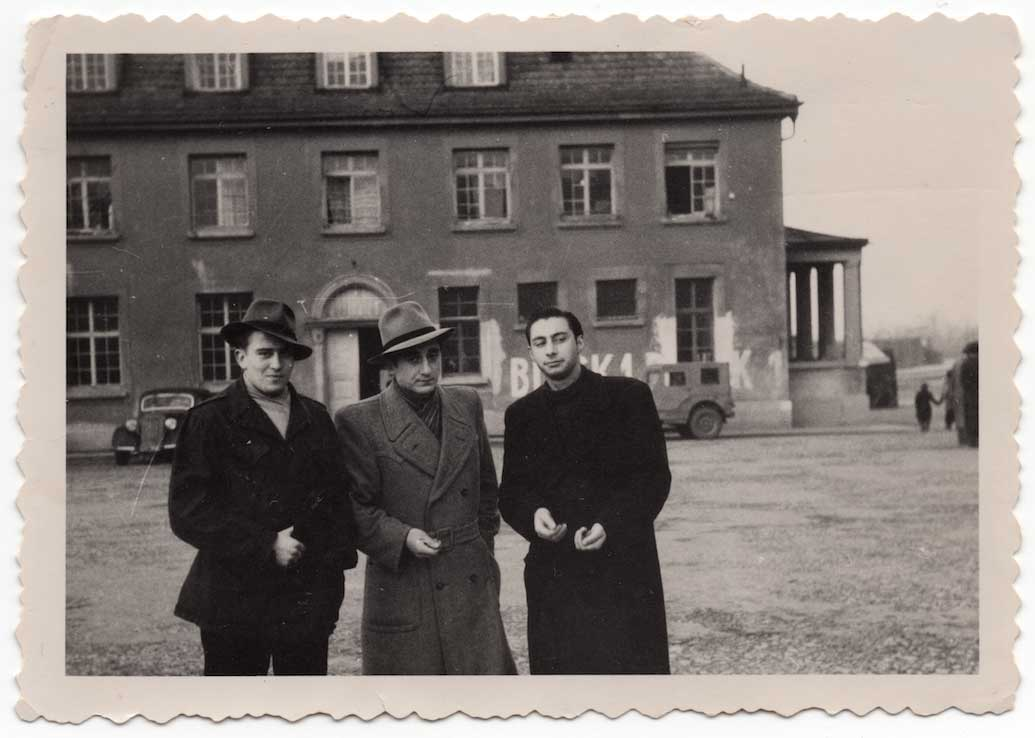 Charles Felikian (middle) in Germany, 1945-49? (From Charles Felikian's collection)