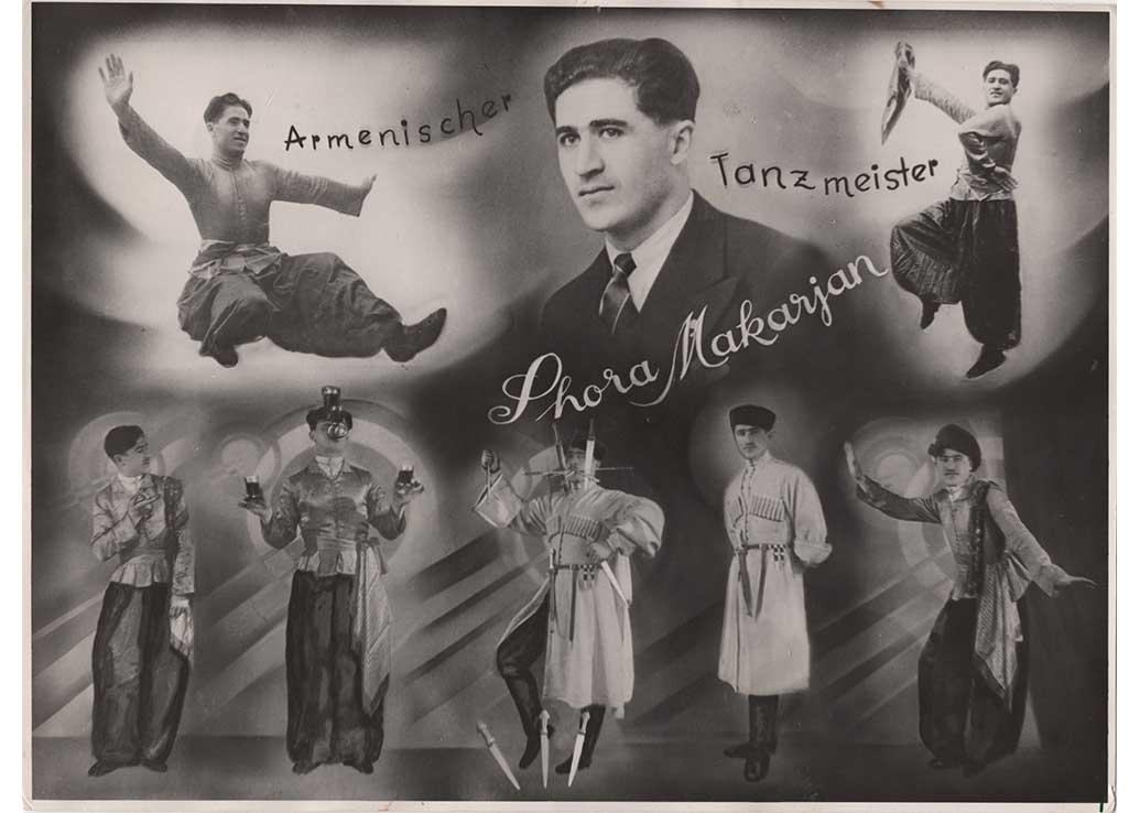 Jora Makarian dance poster, Germany 1944-1949? (From Angela Savoian's collection)