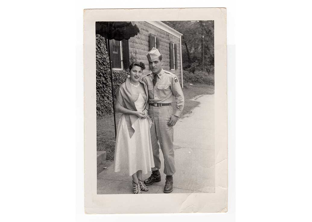 Lucy Zennedjian and Aram Zennedjian in Boston, MA, 1953-1954? (From Lucy Zennedjian's collection)