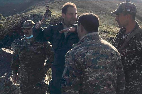 Focus on Karabakh - News in Context - Armenia's defense minister David Tonoyan visits Syunik region over the weekend. Official photo.